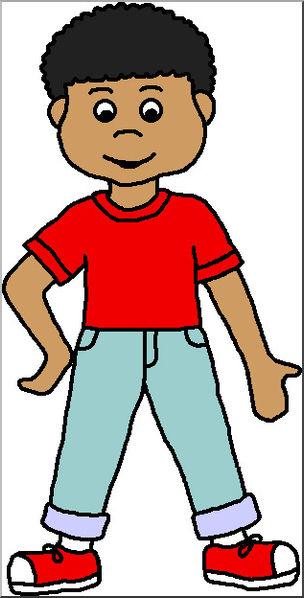 304x598 Clip Art Kids Boy 2 Color I Abcteach