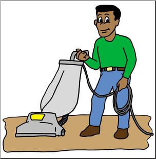 304x310 Clip Art Kids Chores Vacuuming Color I Abcteach