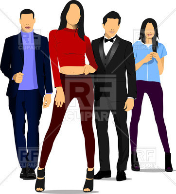 362x400 Lovely Man Clipart Young People Men And Women Royalty Free Vector