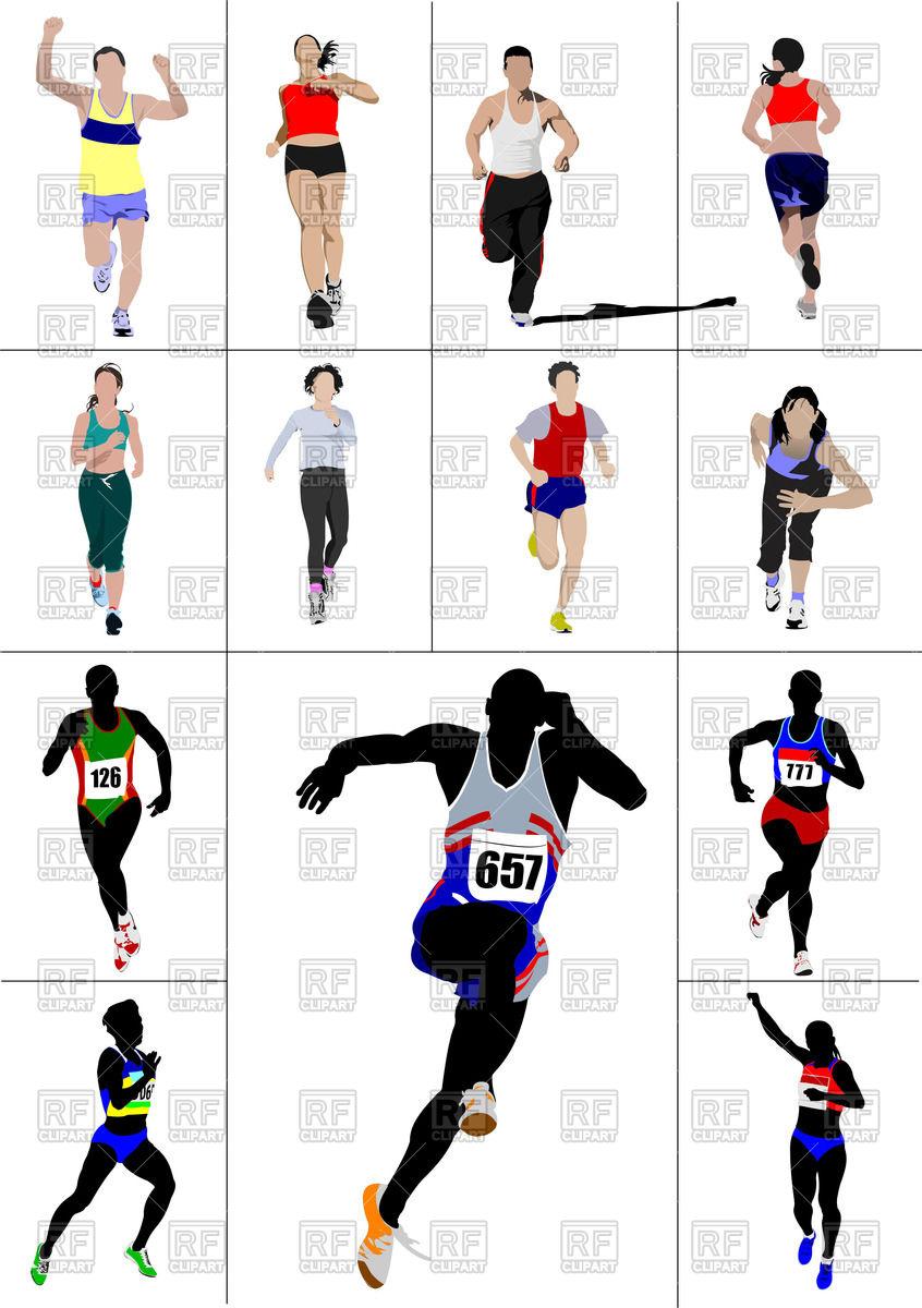 846x1200 The Running Men And Women