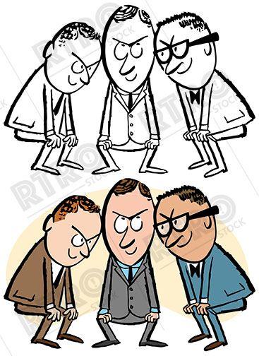 367x504 Three Men Put Their Heads Together To Brainstorm An Idea Vintage