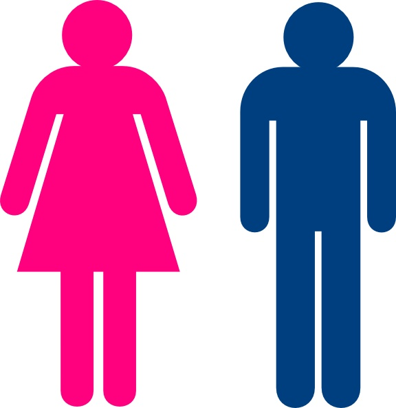 576x594 Toilet Clipart Men And Woman'98090