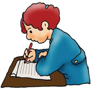 300x300 Free Clipart Students Writing