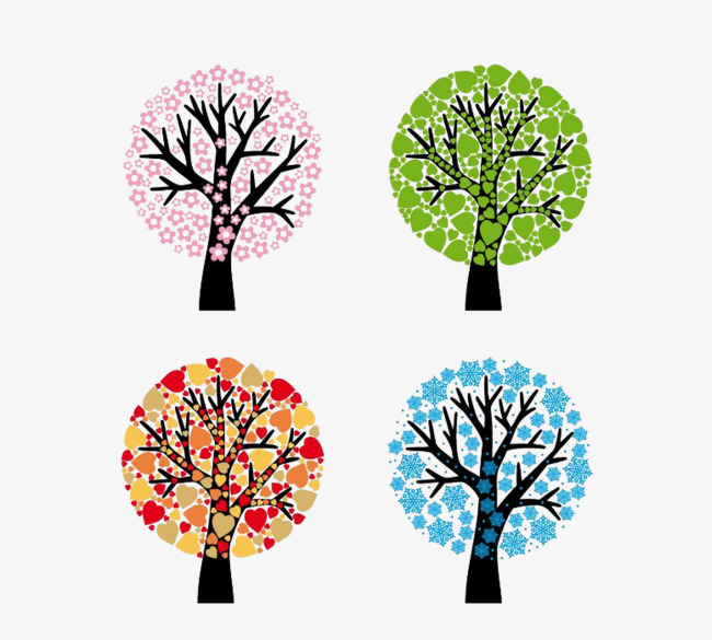 650x585 Four Seasons Change, Png, Free Buckle Material, Four Seasons Png