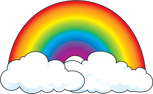 533x327 Collection Of Rainbow Clipart Free Download High Quality
