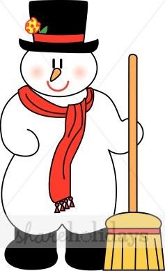 237x388 Frosty Snowman With Broom And Boots Snowman Clipart