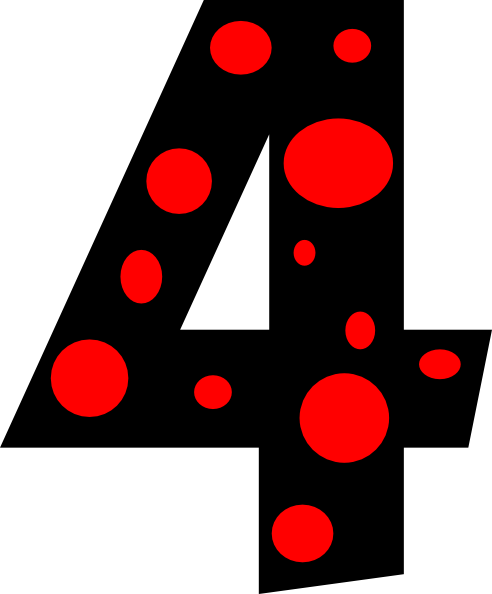 492x594 Number 4 Clipart Number 4 Dots Clip Art