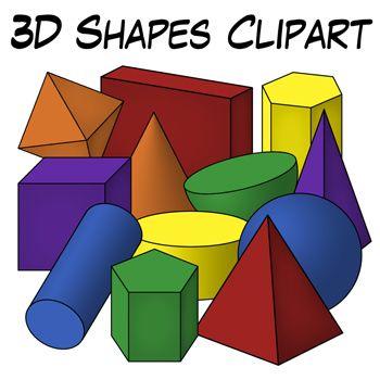 350x350 3d Shapes Clip Art Geometric Solids Classroom Clipart