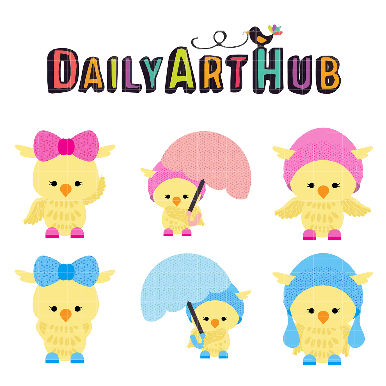 1250x1250 Girly Chick Clip Art Set Daily Art Hub Free Clip Art Everyday