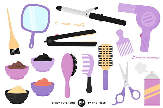 570x379 Hair Clip Art Salon Clipart Girly Clip Art Commercial Use