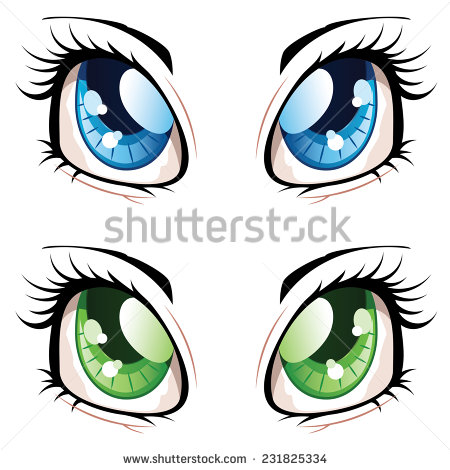 450x470 Blue Eyes Clipart Girly