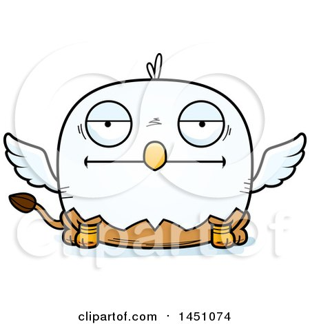 450x470 Clipart Graphic Of A Cartoon Bored Griffin Character Mascot
