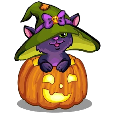 400x400 Collection Of Black Cat And Pumpkin Clipart High Quality