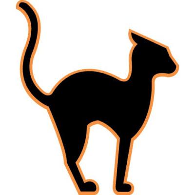 400x400 Halloween Black Cat Clipart