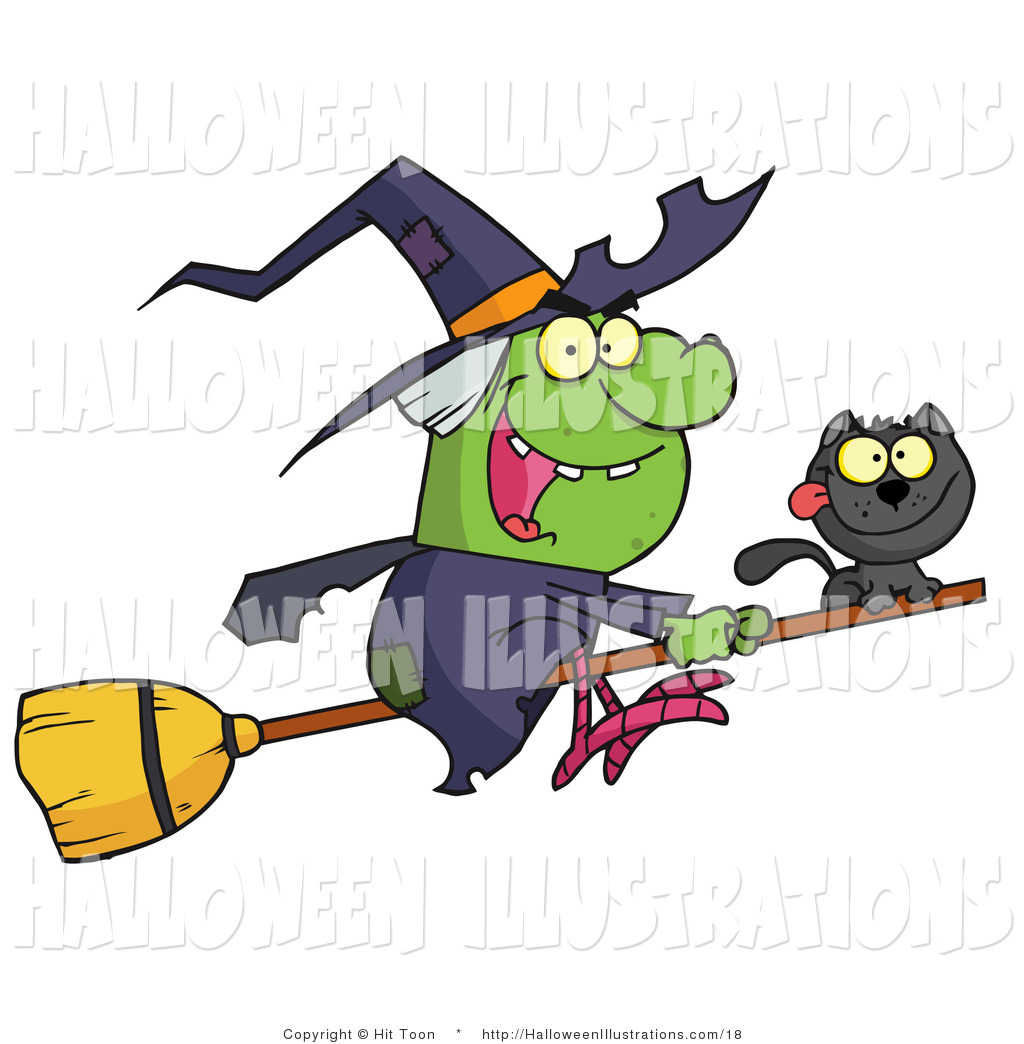 1024x1044 Halloween Clip Art Of A Wicked Green Halloween Witch And Her Cat
