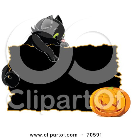 450x470 Royalty Free (Rf) Clipart Of Halloween Cats, Illustrations, Vector