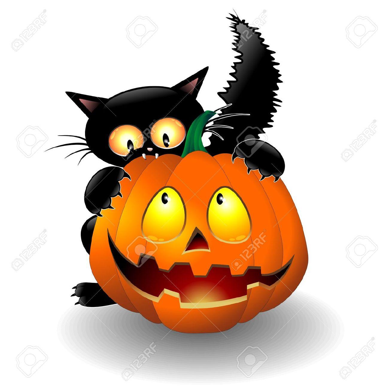 1300x1300 Cat Pumpkin Clipart