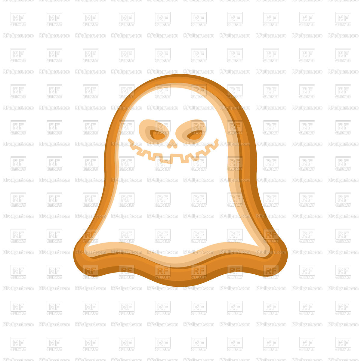 1200x1200 Halloween Cookie Ghost Royalty Free Vector Clip Art Image