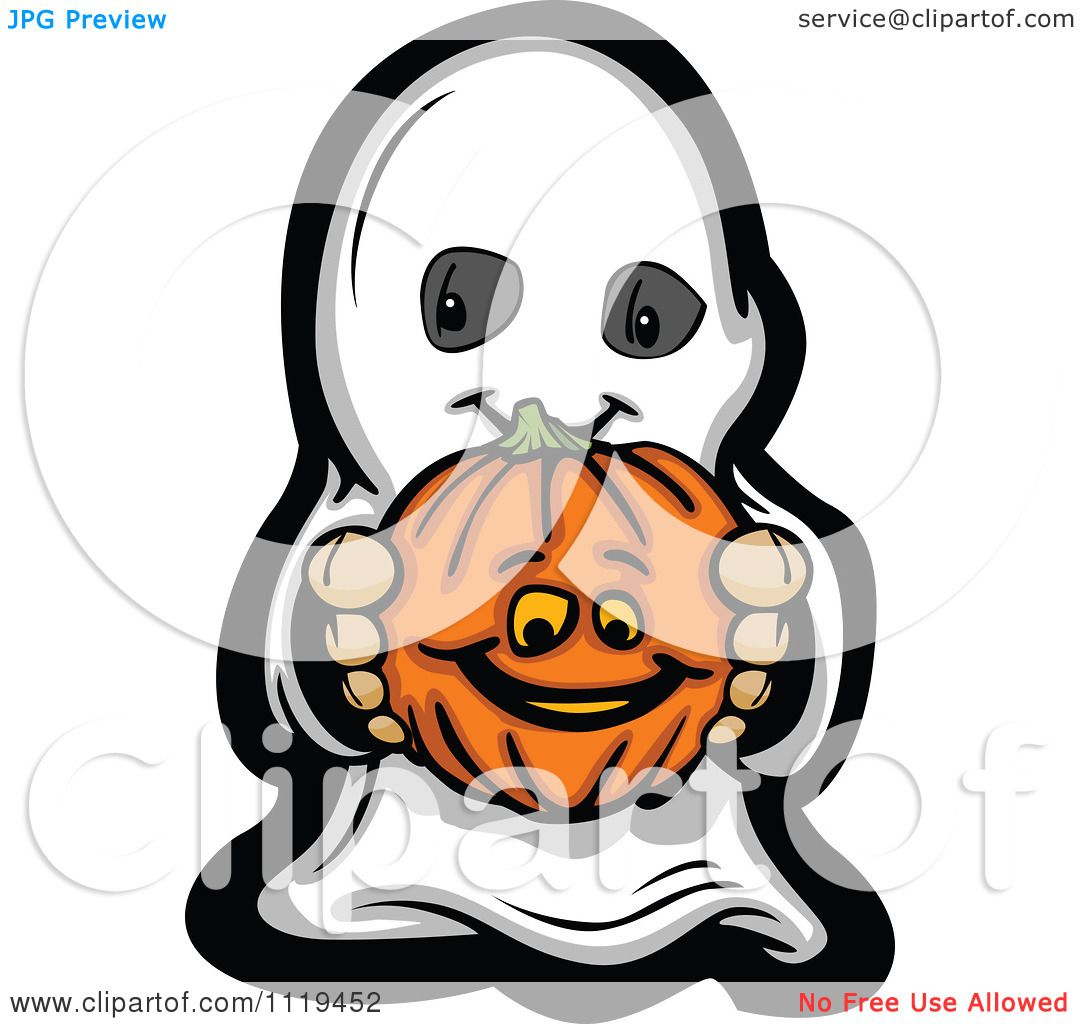 1080x1024 Cartoon Of Halloween Kid In Ghost Costume Holding Out