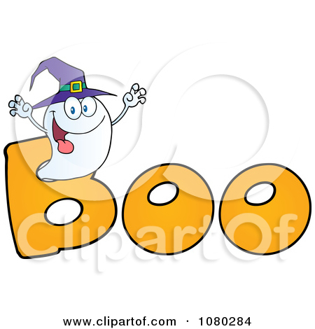 450x470 Clip Art Of The Word Boo Clipart