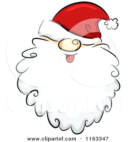 450x470 Santa Beard Clip Art Cartoon Of A Happy Bearded Face With His Hat