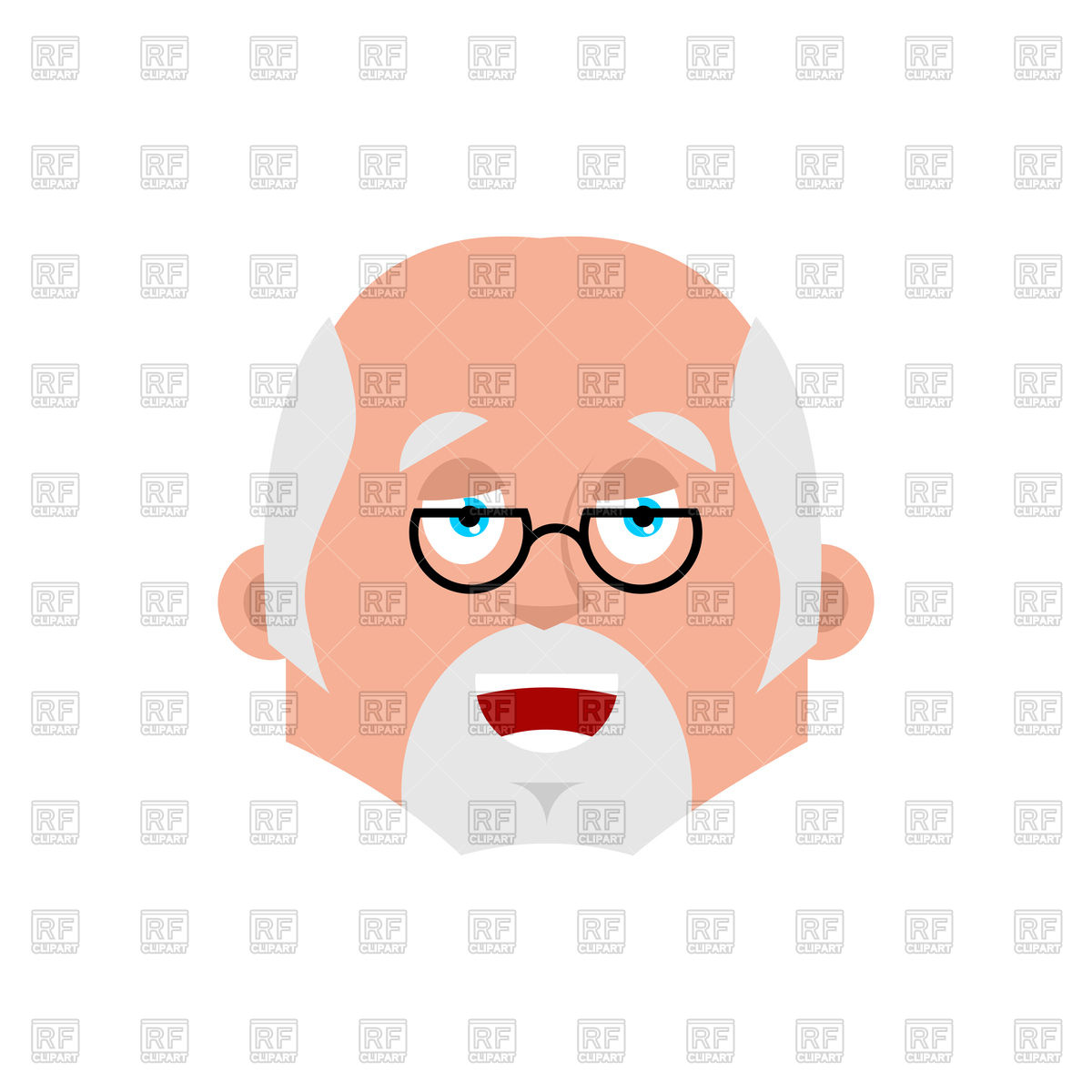 1200x1200 Doctor Happy Emotion Avatar Royalty Free Vector Clip Art Image