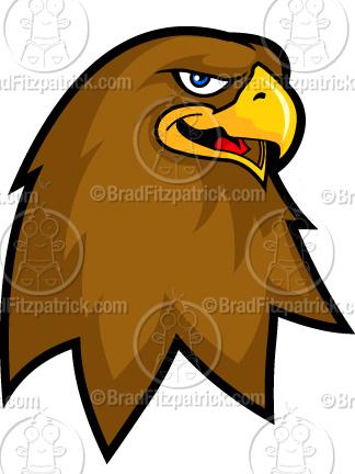 324x432 Cartoon Hawk Clip Art Hawk Logo Graphics Clipart Hawk Mascot