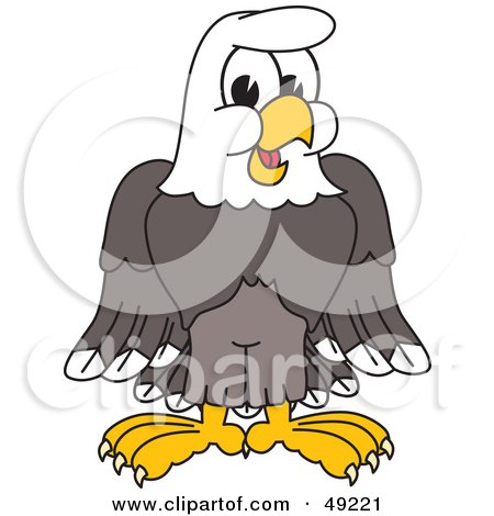 450x470 Royalty Free (Rf) Clipart Illustration Of A Bald Eagle Hawk