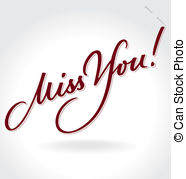 186x179 I Miss You Retro Valentine Banner Clip Art Vector And Illustration