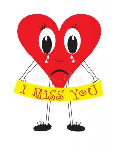 232x300 Miss You Clip Art I Miss You Heart Stock Illustration Illustration