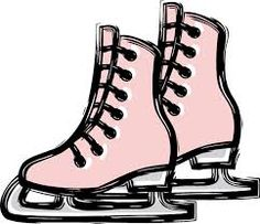 236x203 Ice Skate Boots Contour. Vector Clip Art. Skating