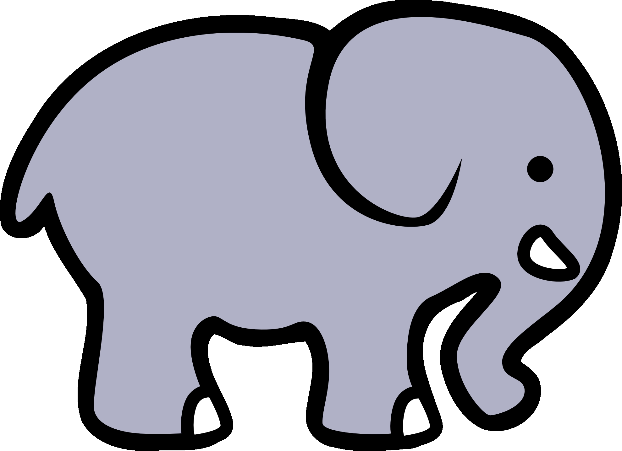 1979x1437 New Elephant Clipart Black And White Design
