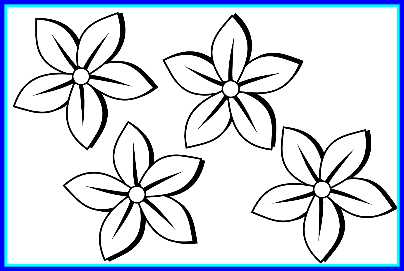 1381x927 Black And White Clip Art Flowers Image Collections
