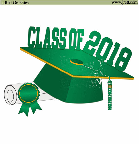 570x592 Class Of 2018 Clip Art, More Colors, Green, Gold, Yellow