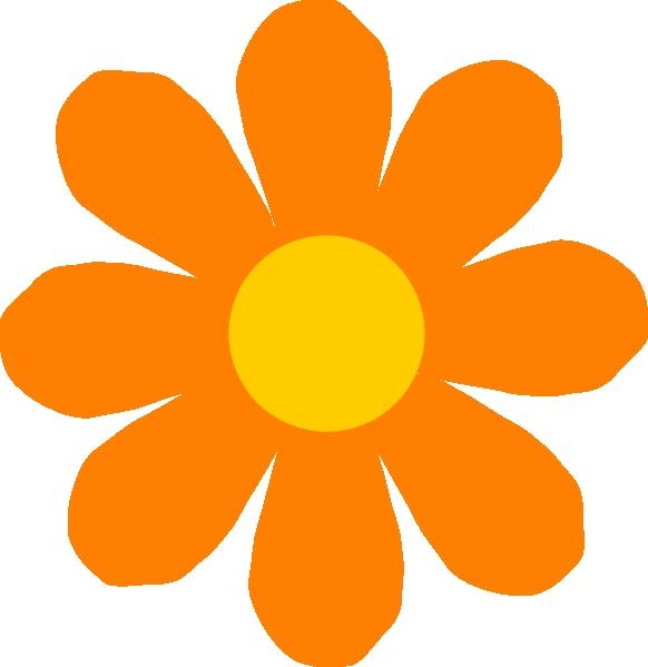 582x599 Flower Clipart K Orange Flower Clip Art At Clker Vector Clip Art
