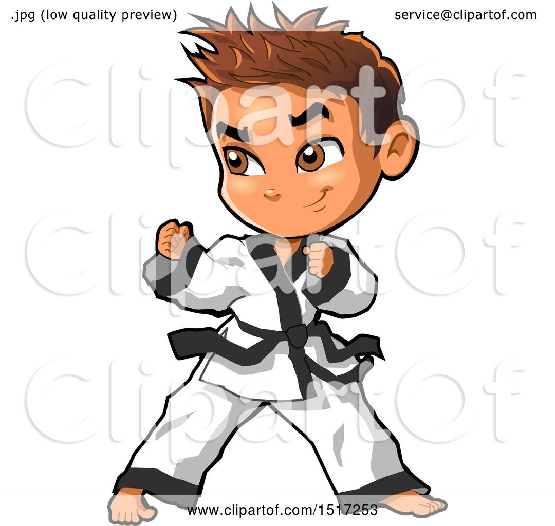 1080x1024 Clipart Of A Karate Boy In A Fighting Stance