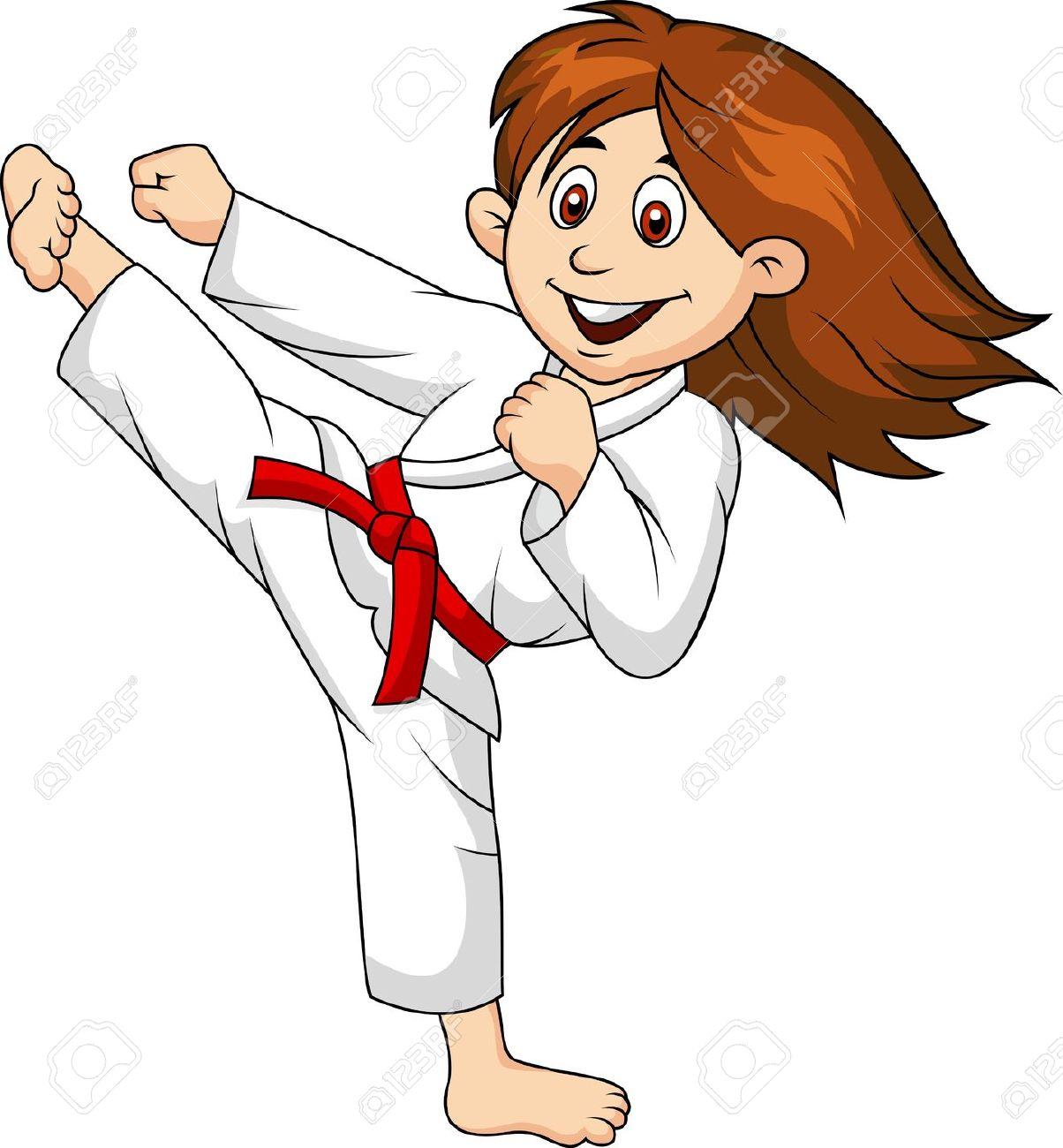 1204x1300 Girl Martial Arts Clipart