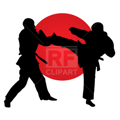 400x400 Karate Fighters Royalty Free Vector Clip Art Image