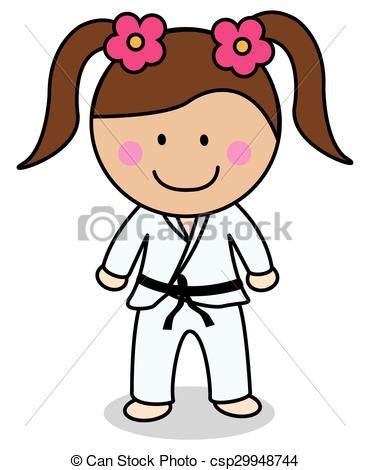 370x470 Karate Girl Eps Vector