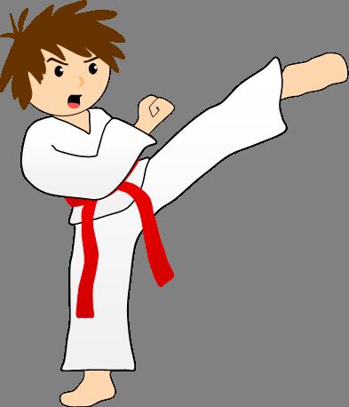393x458 Karate Kick Clip Art 5868528