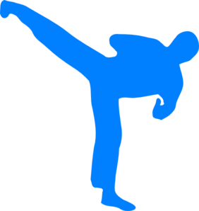 282x298 Blue Karate Clip Art