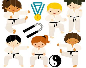 340x270 Martial Arts Clipart Etsy