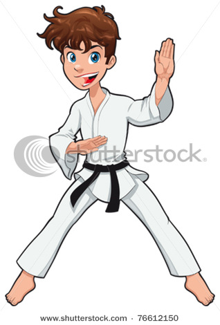 318x470 Boy In Karate Robe Or Gi Practicing Karate, A Martial Art In This