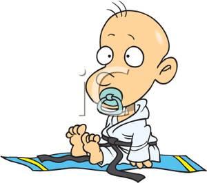 300x266 Clip Art Image A Baby In A Karate Uniform