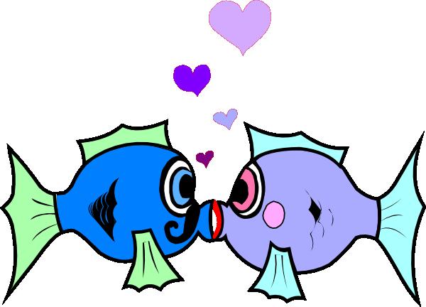 600x432 Kissing Fish Clip Art