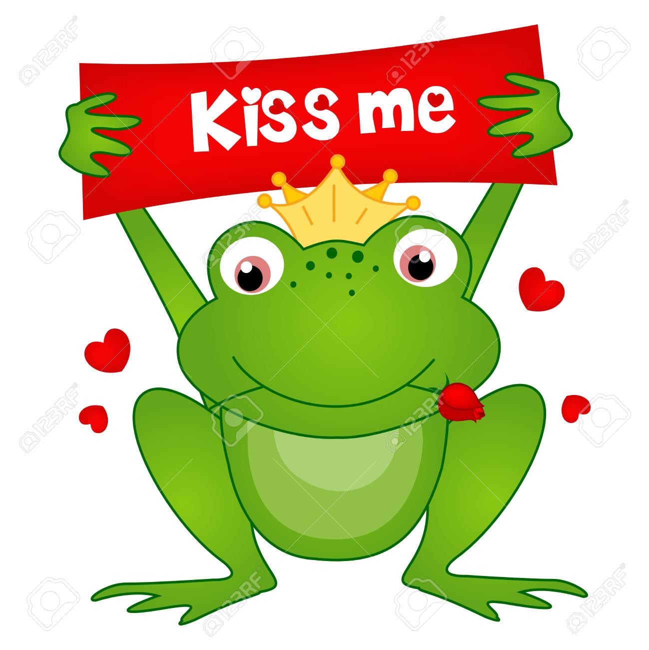 1299x1300 Kissing Frog Clip Art