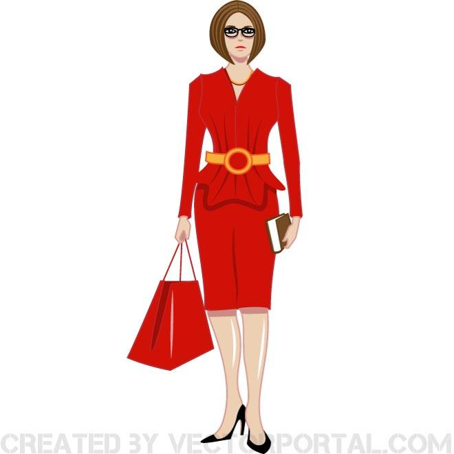 660x660 Lady In Red Clip Art Free Clipart Panda