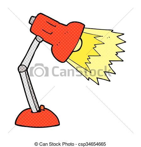 449x470 Freehand Drawn Cartoon Desk Lamp Clip Art Vector