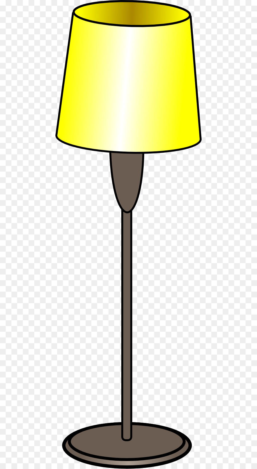 900x1640 Table Lamp Floor Lighting Clip Art