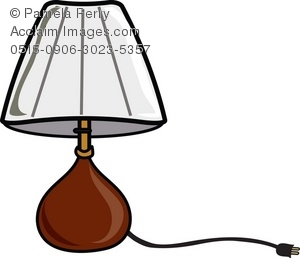 300x258 Clip Art Illustration Of A Bedroom Table Lamp
